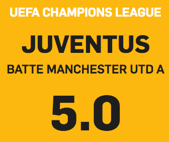 Quota CL Juventus Betfair
