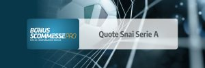 Quote Snai serie a